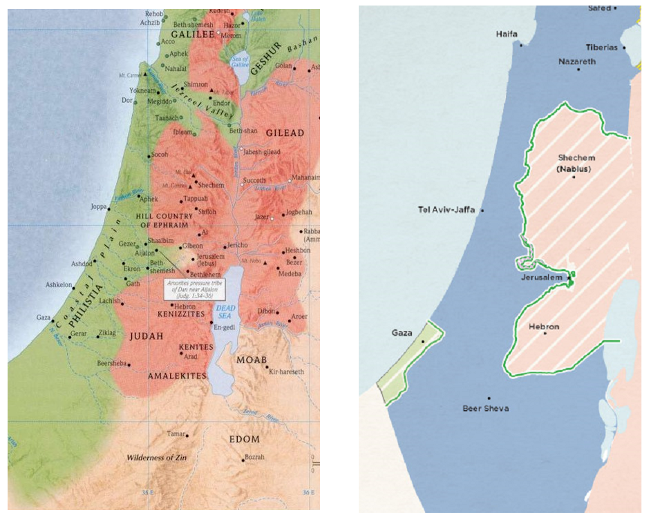 compare conquests of joshua with israel