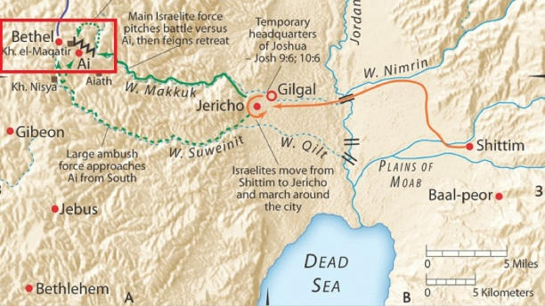 Map Of Bethel And Ai 1